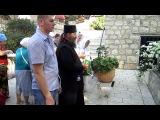 Гора Тавор ( Фавор).Греко-правславный монастырь и Церквь Преображения.Молебен.